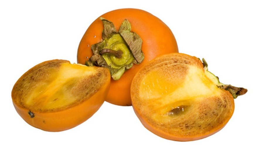 Persimmons have sweet flesh and grow well in Sonoma.