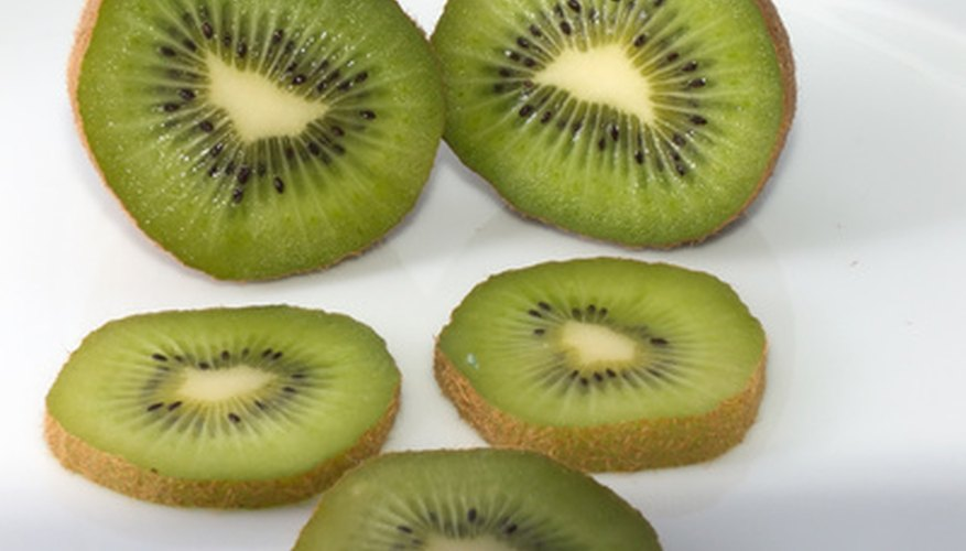 The seeds of the kiwi fruit are small, black and numerous.