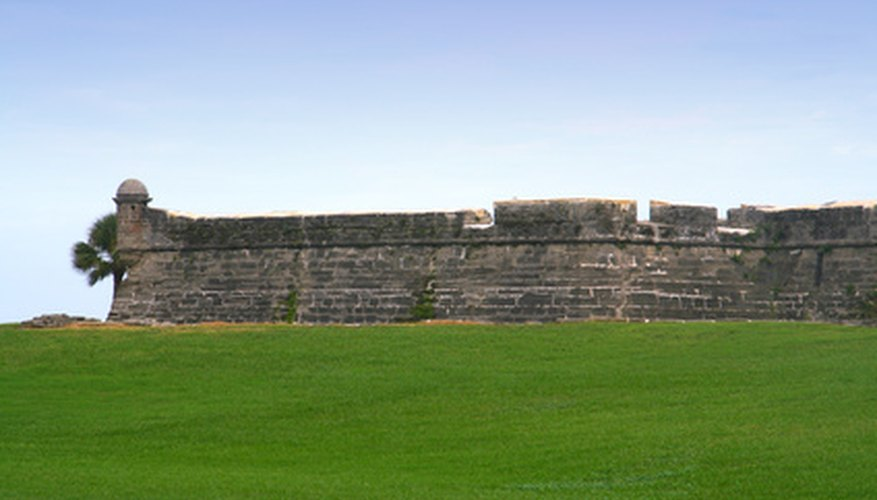The fort in St. Augustine, Florida is surrounded by its namesake turfgrass.