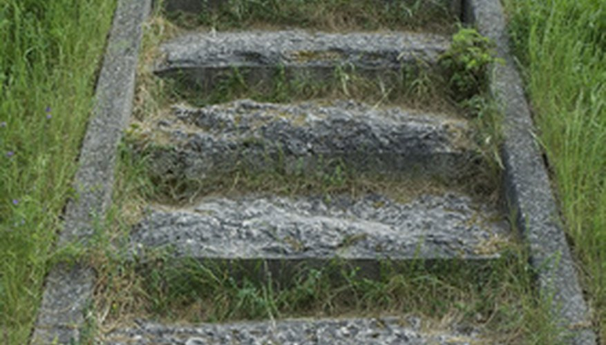 Rough stone steps similar to hypertufa