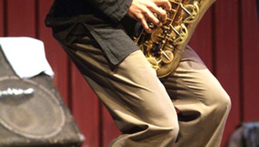 Jazz features improvisation on instruments such as the saxophone.