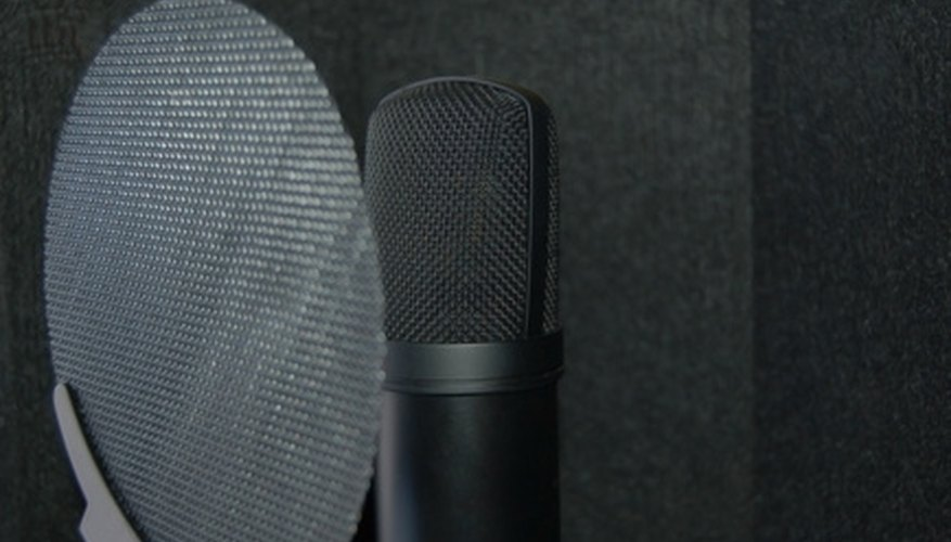A pop filter protects the microphone from moisture, and attenuates hard plosive sounds.