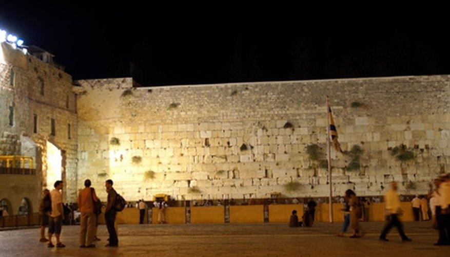 Muro de los Lamentos por la noche.