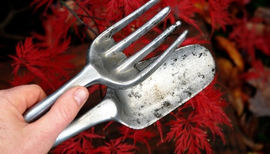 Garden trowels help protect hands when planting.