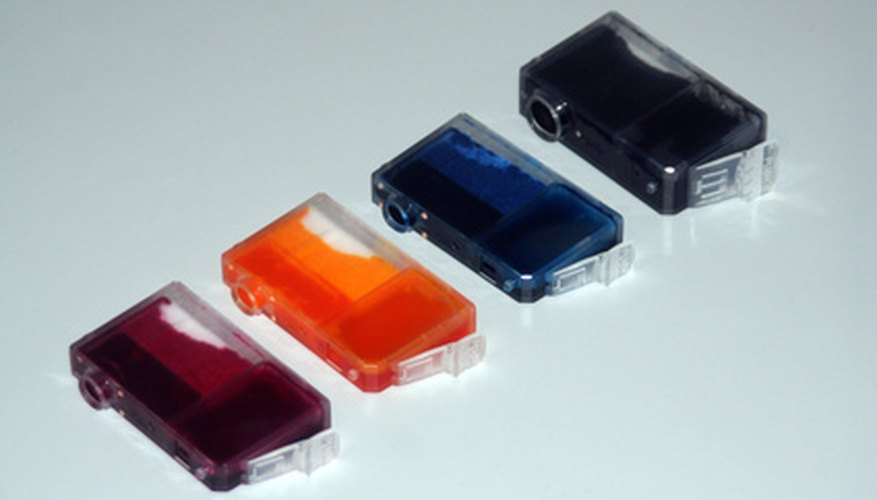 Black inkjet ink cartridges are larger than those for magenta, yellow and cyan.