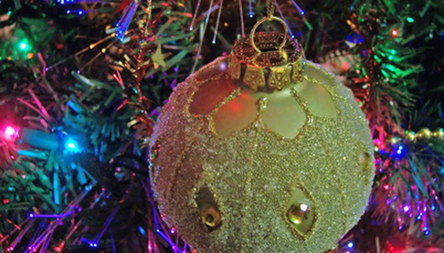 Victorian Christmas Tree.How To Make Victorian Christmas Tree Glass Ornaments Our