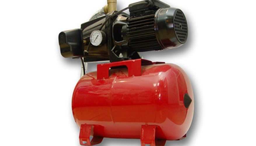 Water pumps, when not in operation, must be drained to keep from freezing.