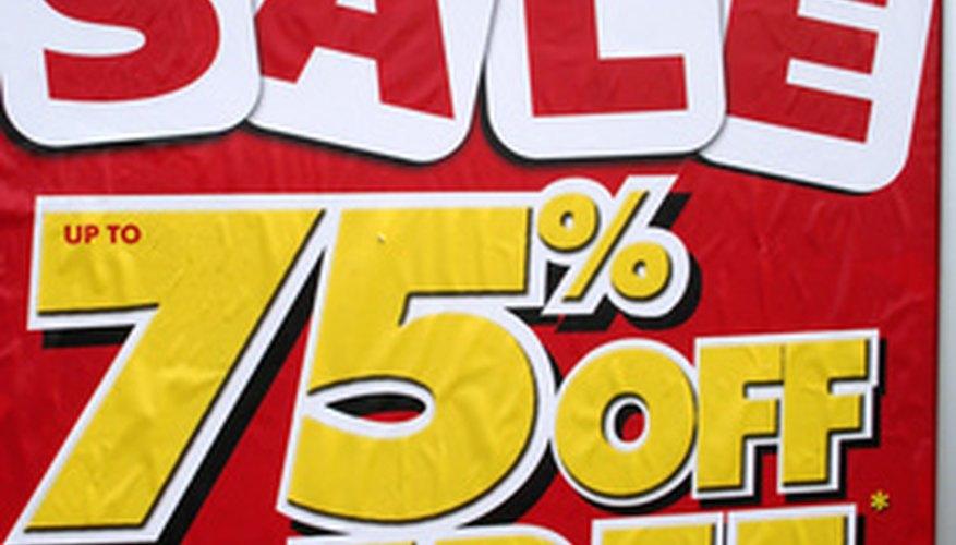 Los descuentos le dan a los consumidores un incentivo para comprar en el lugar en cuestión.