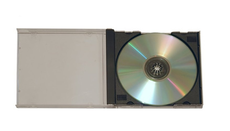 A standard CD jewel case