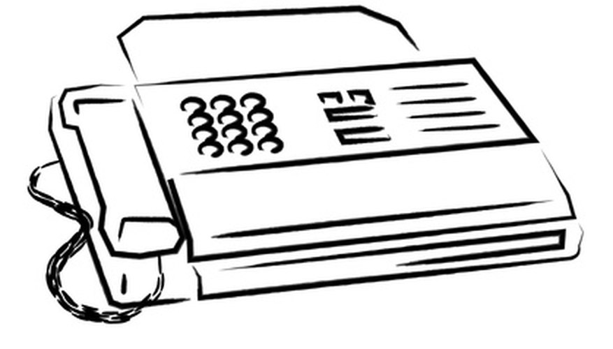 Send a test fax to a fax machine.