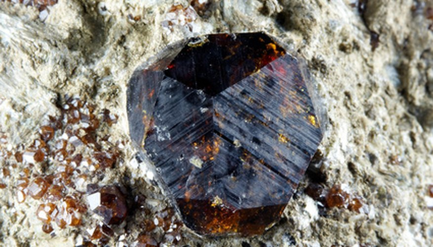 Garnets can be a deep red to a brilliant green.