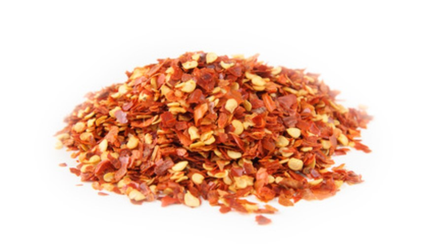Dried hot pepper seeds are used in many recipes.