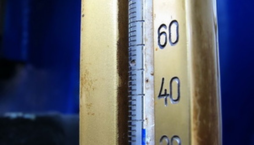 Use a pair of ordinary thermometers to test humidity levels.