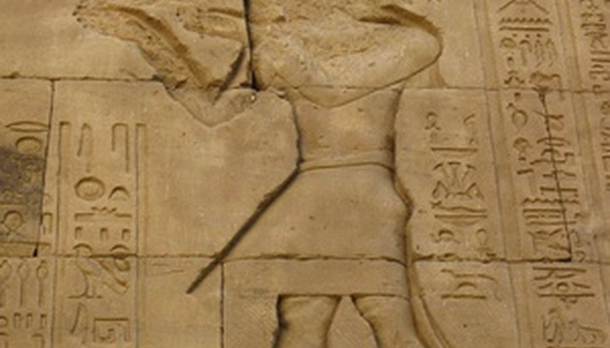 Wine is mentioned in Egyptian hieroglyphs.