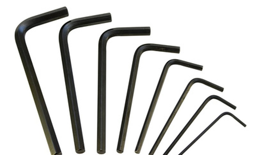 Allen wrenches come in a variety of sizes; select the size that fits the screws on your bicycle.