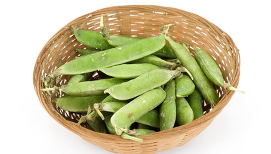 Sugar snap peas are popular at vegetable stands in Kentucky.