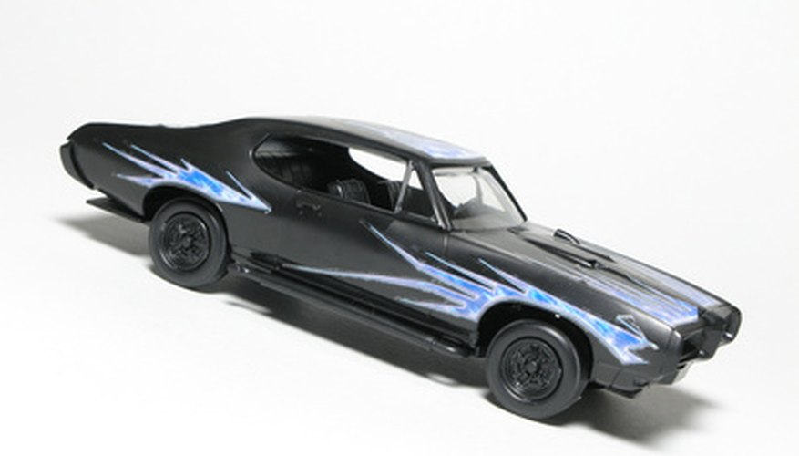 Paint decals, flames, stripes or any other design you like on your Hot Wheels car.