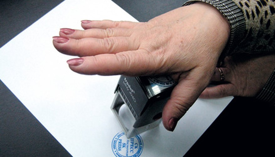 Refillable stamps have an internal ink well.