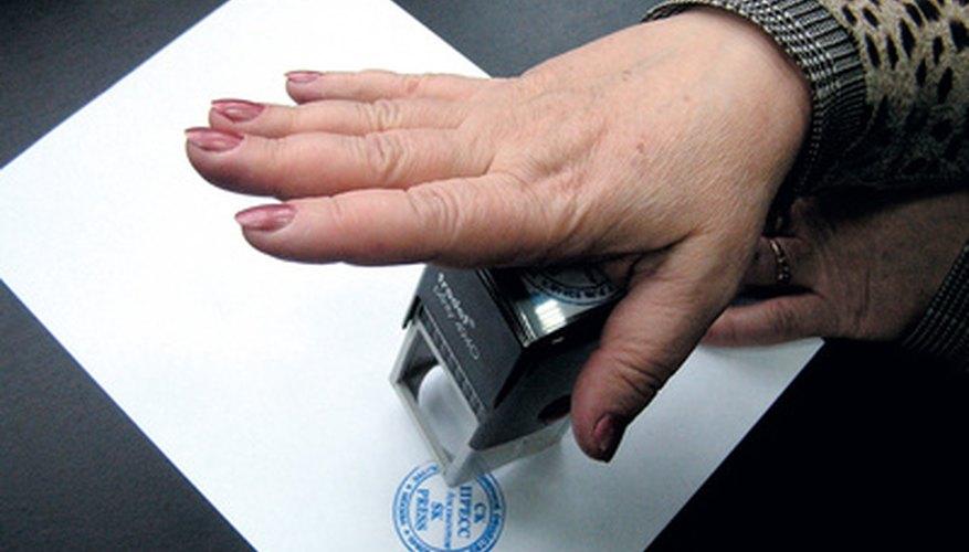 self inking stamp refill instructions bizfluent