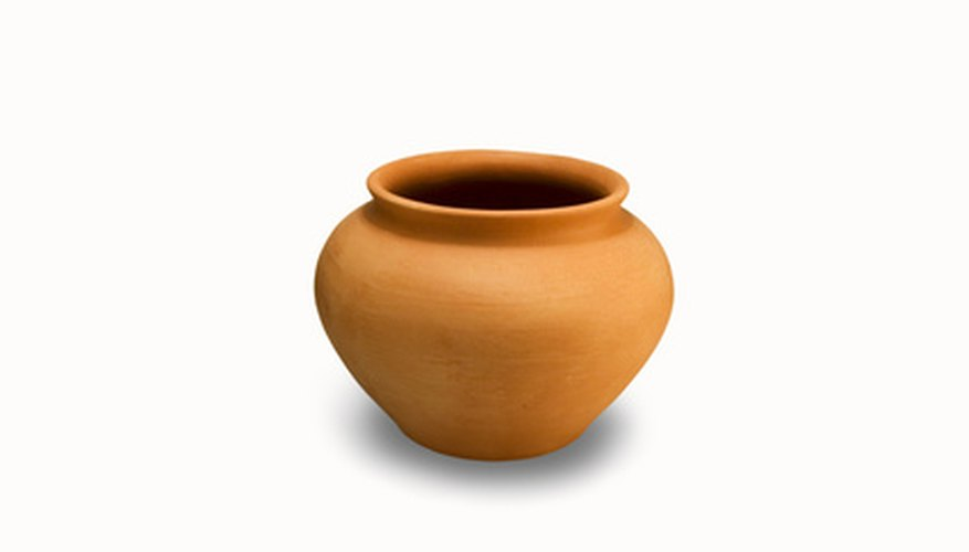 Terra cotta pots sometimes require holes to be drilled for drainage.