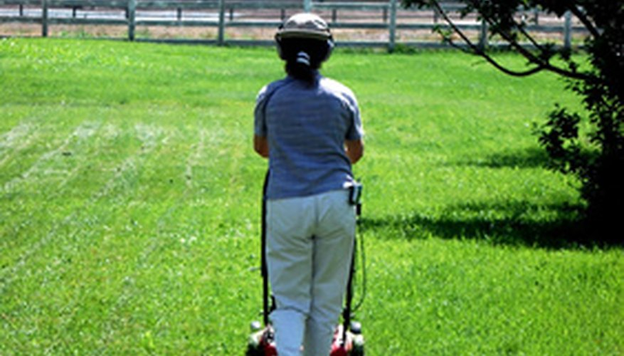 Self-propel and riding mowers ease operator fatigue when mowing.