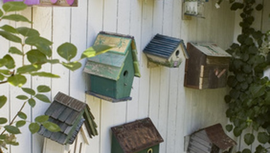 Wooden bird houses can be all shapes and sizes.