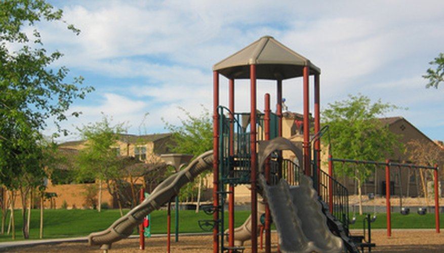 Playground mulch provides protection when children fall.