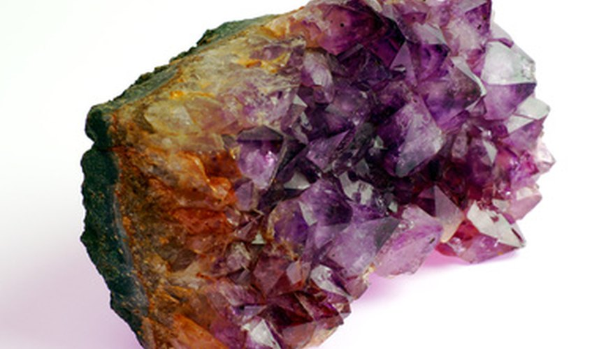 Semi precious stones are part of the amethyst family.