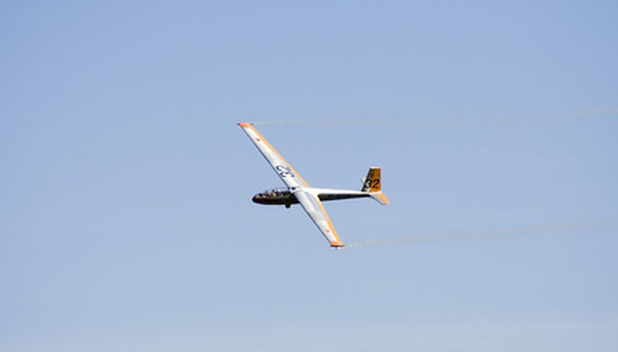 A glider in flight