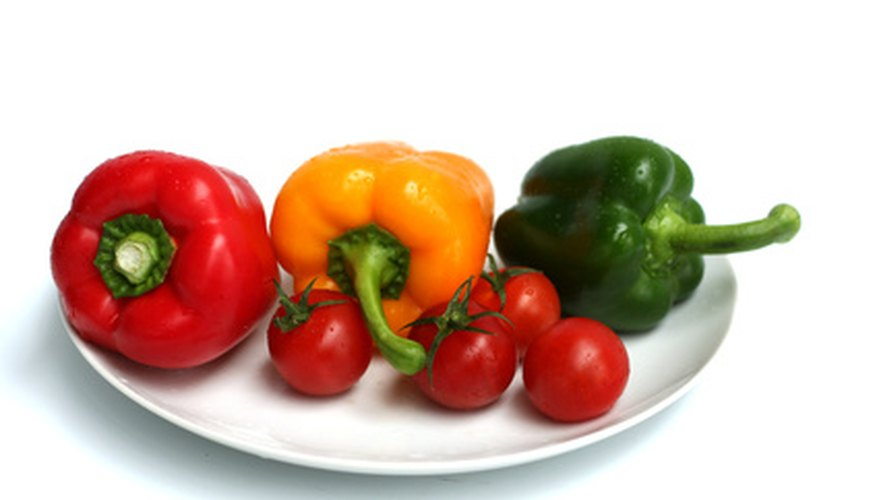 Tomatoes and peppers are both nutritious garden vegetables.
