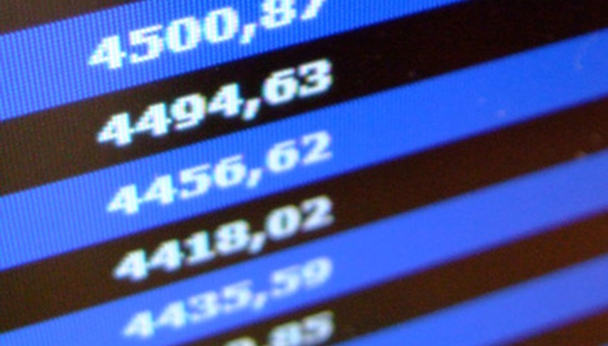 Market index calculation methods.