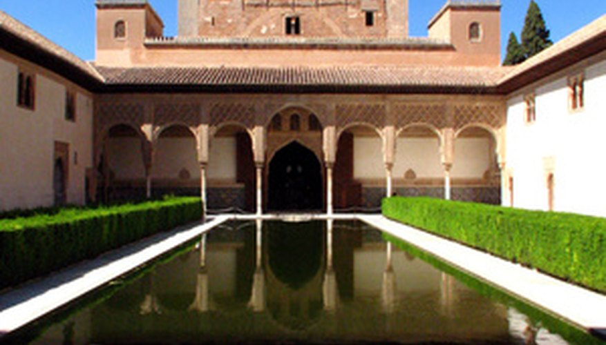 The Alhambra demonstrates Islamic garden design ideals.