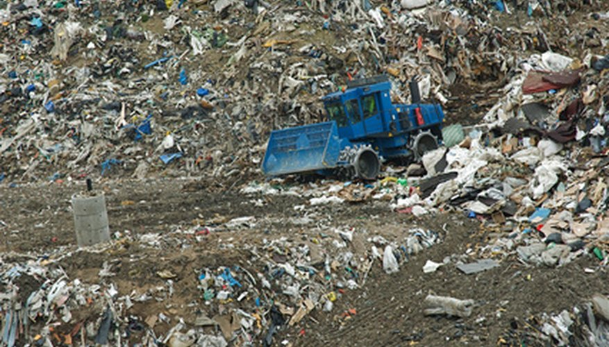 Decomposing garbage is one possible source for methane.