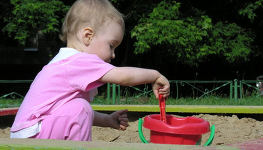 A sandbox cover helps ensure there will be clean, dry sand.