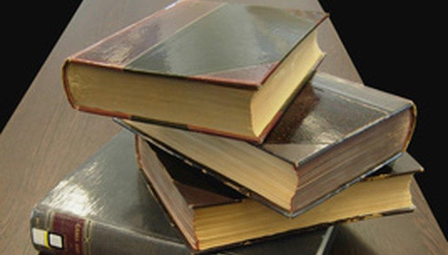 Los libros utilizan en su mayoría letra serif.
