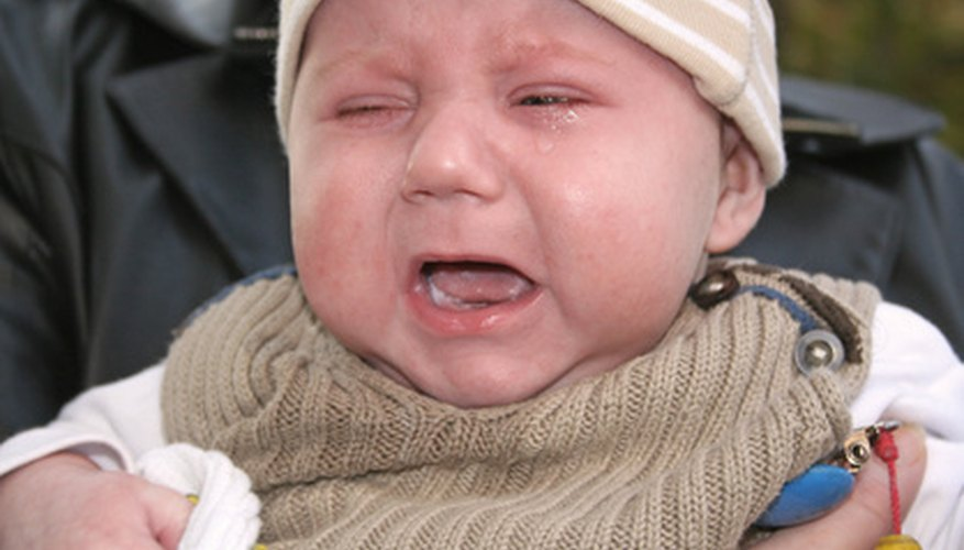 Overtired babies can get fussy and irritable.