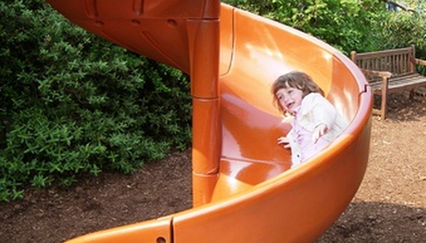 Slides can give children hours of amusement.