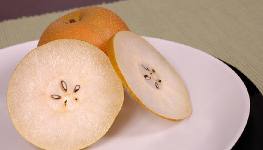 Ripe Asian pear flesh looks very similar to European pear flesh.