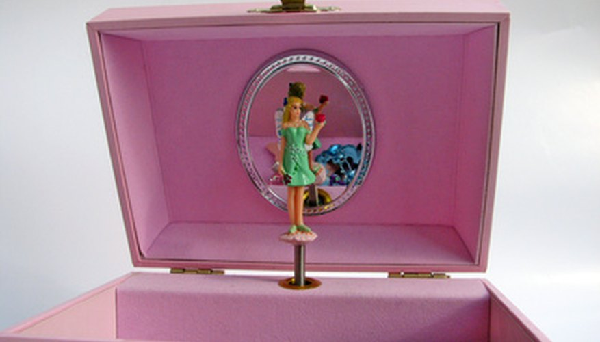 A dancing ballerina inside a musical box will likely fascinate any little girl.