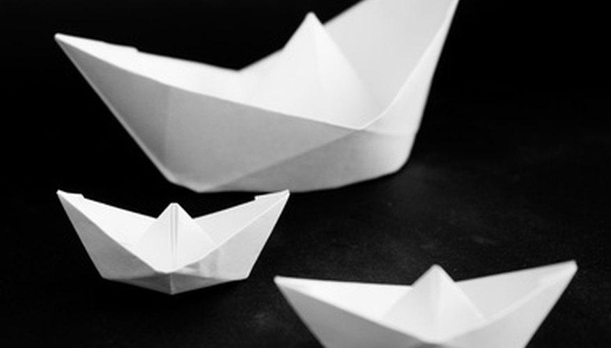 Barcos de papel.