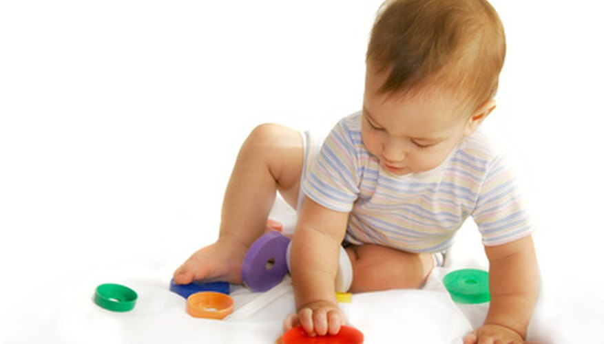 Infants can use toys and objects as a way to better understand their world.