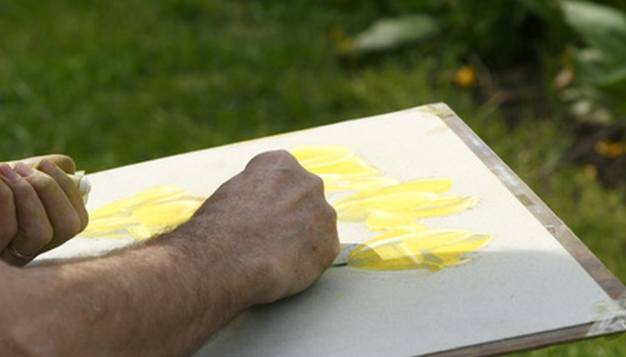 Masking fluid will keep certain areas of your painting white.