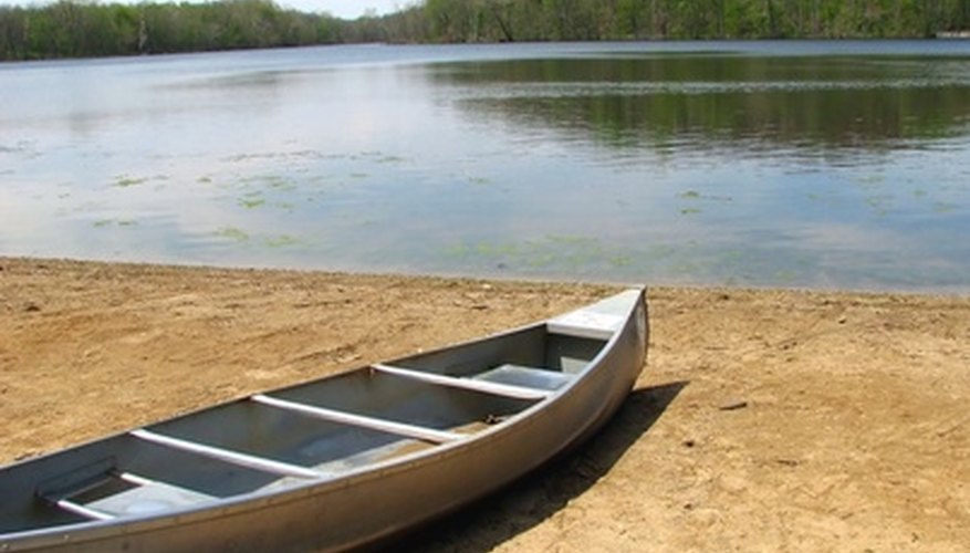 You can easily make a true-to-life canoe from birch bark.