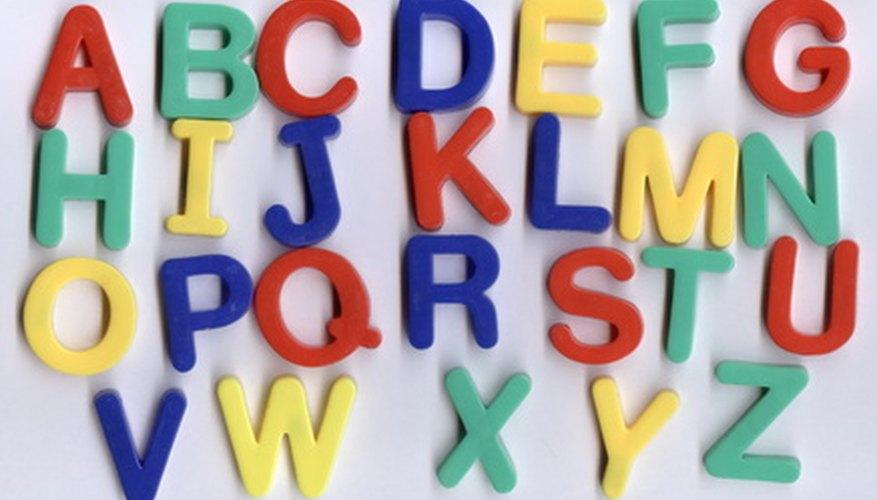 Las letras y los sonidos de aprendizaje es el primer paso para aprender cualquier idioma.