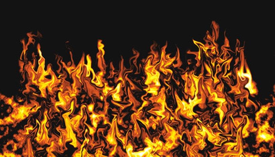 El horno rotativo de un incinerador de desechos se mantiene a 1.800 grados Fahrenheit (980º C) o más.
