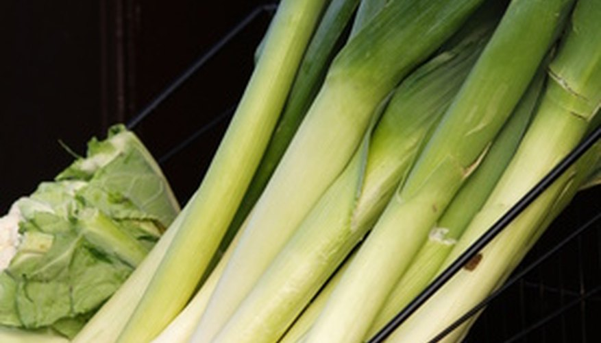 Freshly harvested leeks add a hint of onion flavor to dishes.