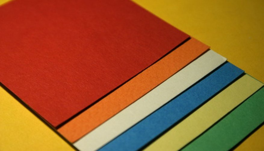 Cardstock comes in a variety of colors.