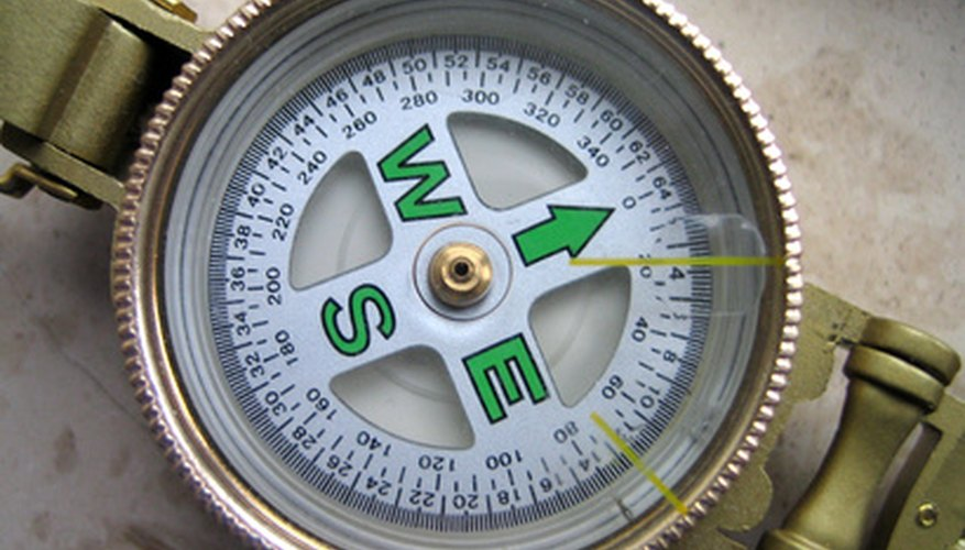 A compass works by the movement of the magnet within.