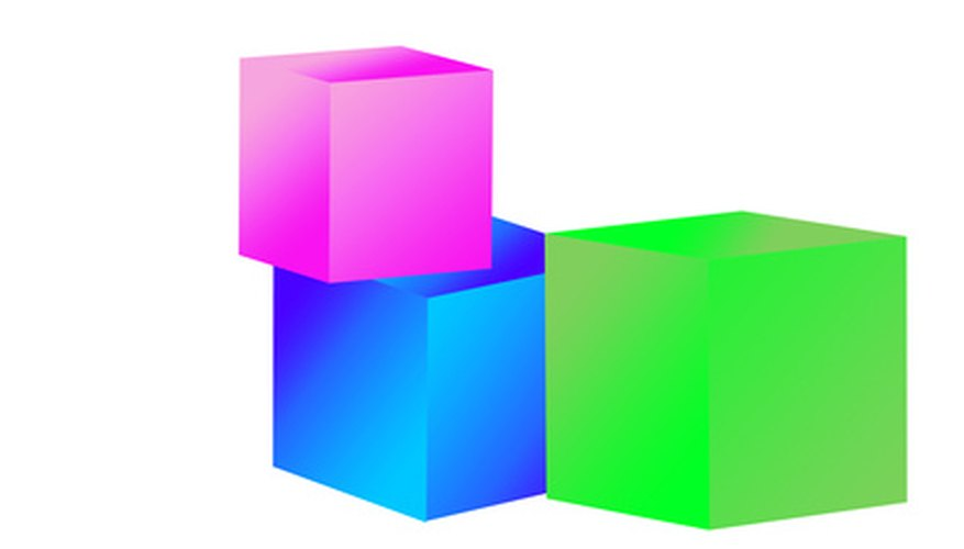 Cubes are designed in 3-D.