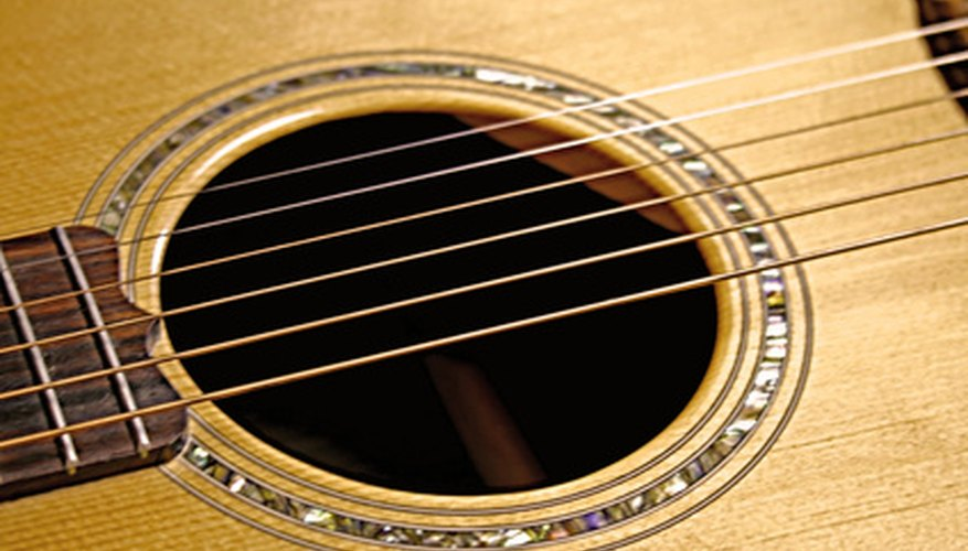 An acoustic guitar produces a microphone signal.
